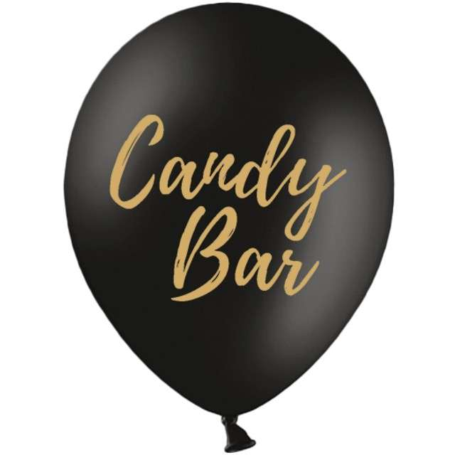 "Balony ""Candy Bar"", czarne, 12"" STRONG,  50 szt"