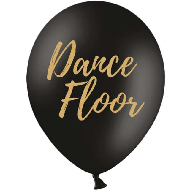 "Balony ""Dance Floor"", czarne, 12"" STRONG,  50 szt"