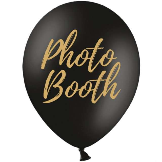 "Balony ""Photo Booth"", czarne, 12"" STRONG,  50 szt"
