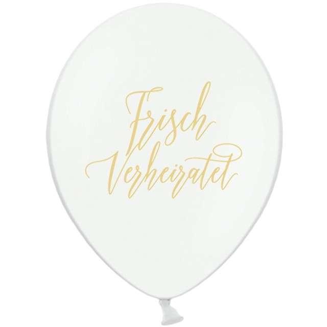 """Balony """"Frisch Verheiratet"""", białe, 12"""" STRONG,  50 szt"""