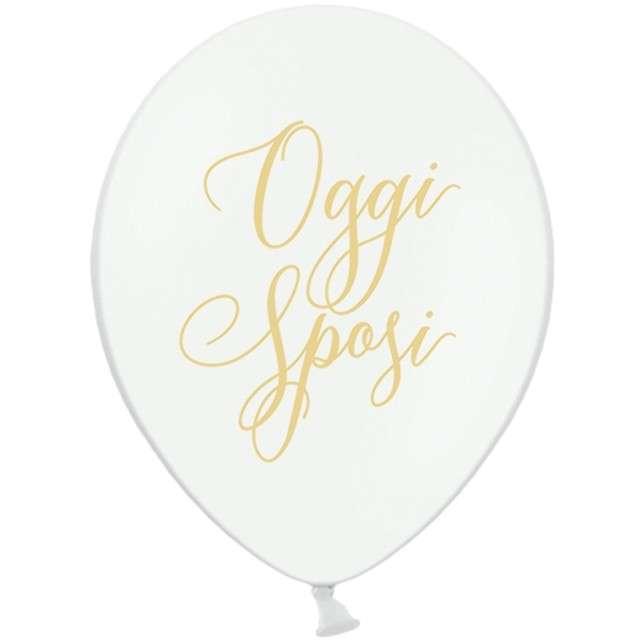 """Balony """"Oggi Sposi - Nowożeńcy"""", pastel białe, 12"""" STRONG,  50 szt"""