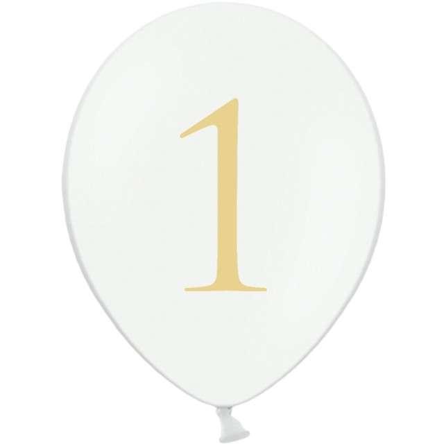"""Balony """"Cyfra 1"""", białe, 12"""" STRONG,  50 szt"""