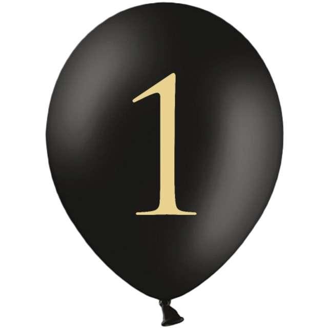 "Balony ""Cyfra 1"", czarne, 12"" STRONG,  50 szt"