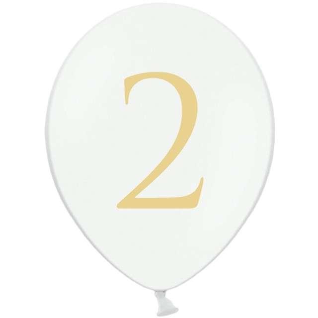 """Balony """"Cyfra 2"""", białe, 12"""" STRONG,  50 szt"""
