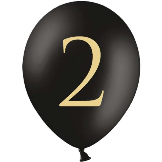 "Balony ""Cyfra 2"", czarne, 12"" STRONG,  50 szt"