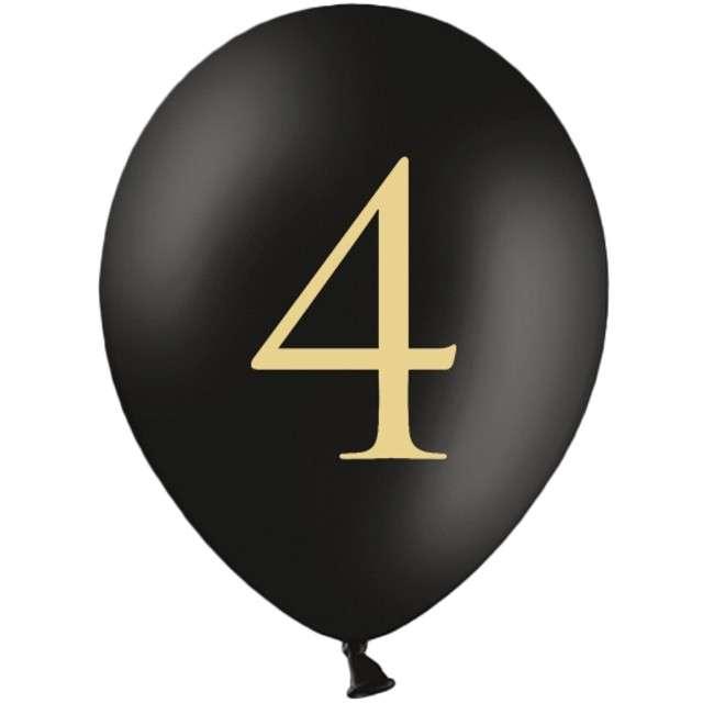 "Balony ""Cyfra 4"", czarne, 12"" STRONG,  50 szt"