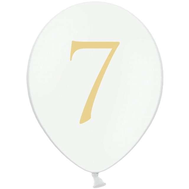 """Balony """"Cyfra 7"""", białe, 12"""" STRONG,  50 szt"""