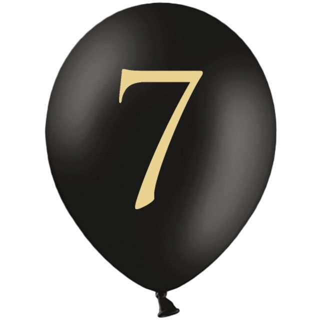 "Balony ""Cyfra 7"", czarne, 12"" STRONG,  50 szt"