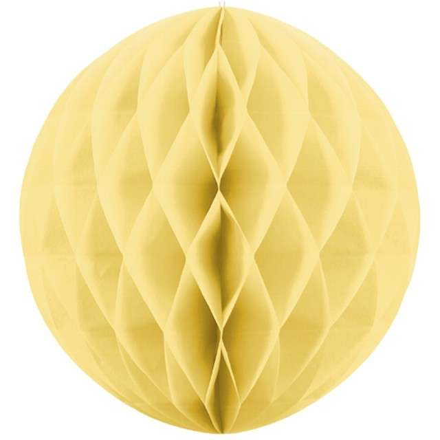 """Dekoracja """"Honeycomb Kula"""", słomkowy, 30 cm"""