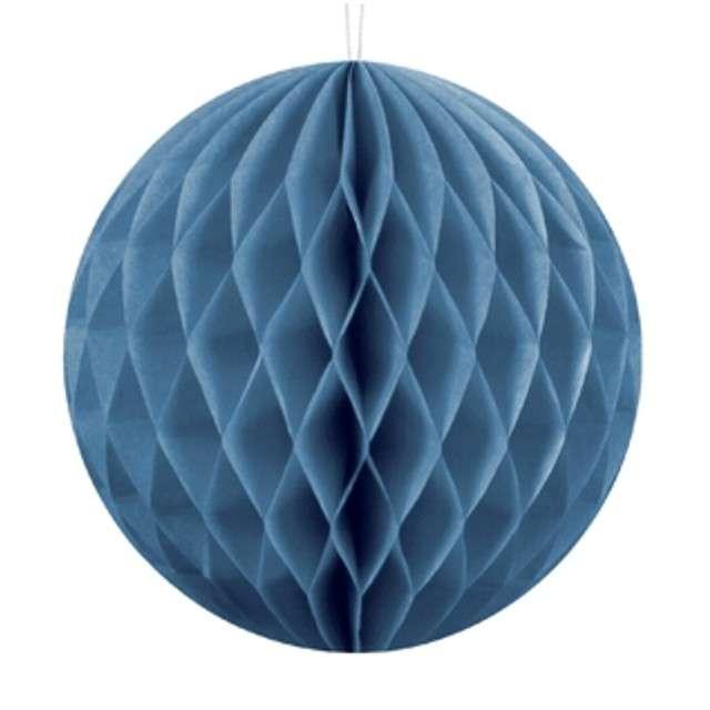 """Dekoracja """"Honeycomb Kula"""", niebieski, 10 cm"""