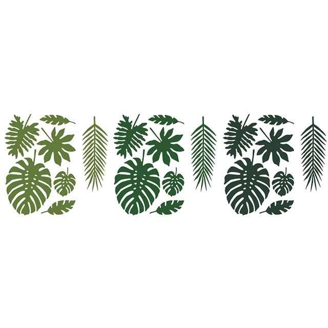 """Dekoracja """"Liście Tropikalne - Aloha"""", PartyDeco, 21 szt"""
