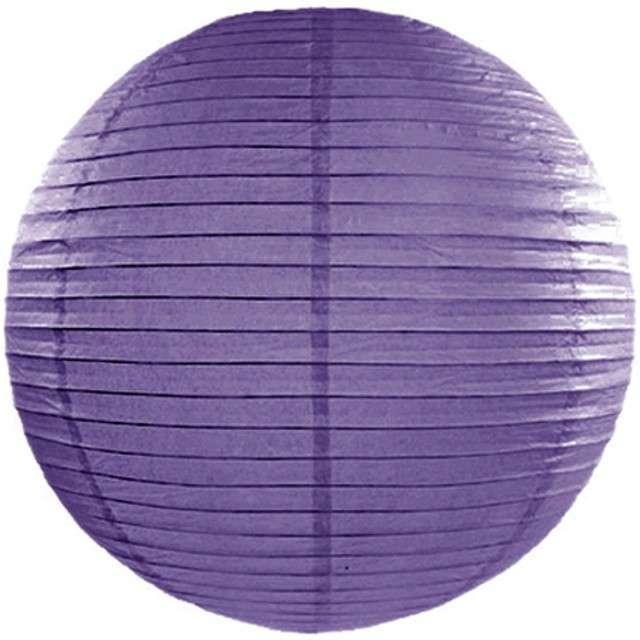Lampion papierowy, fioletowy, 45 cm