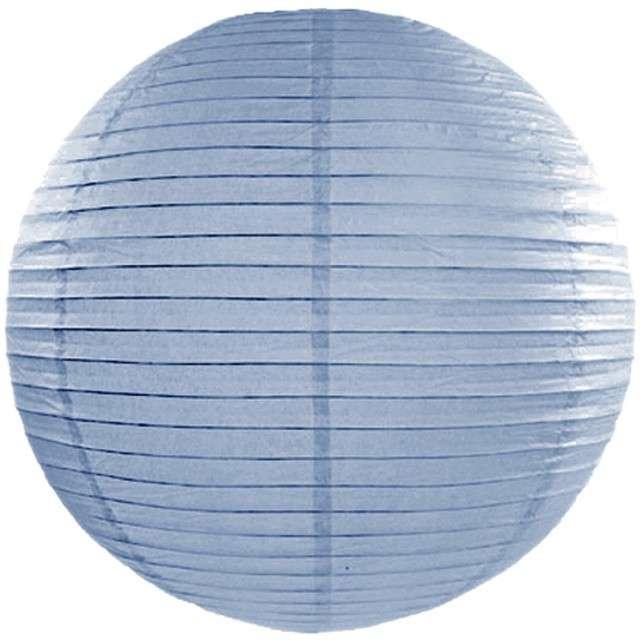 Lampion papierowy, niebieski mglisty, 55 cm