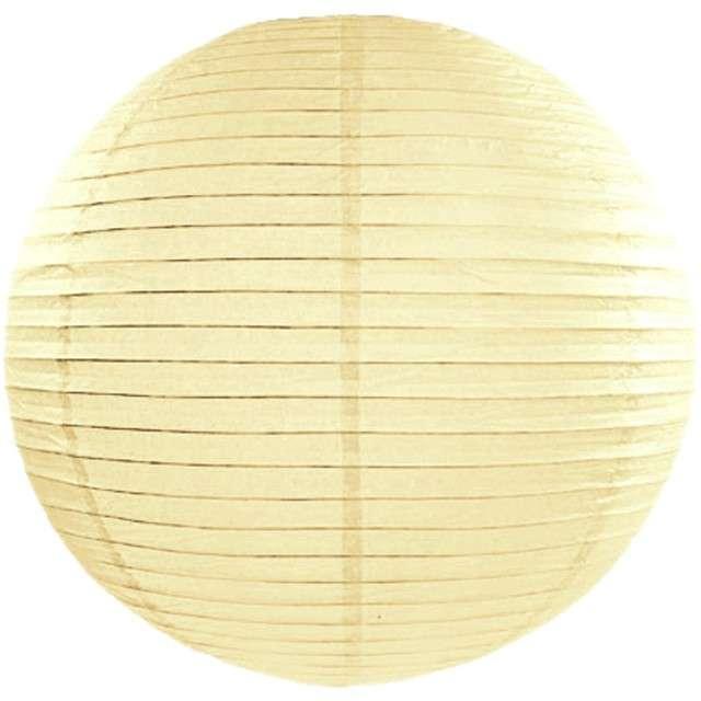 Lampion papierowy, kremowy, 65 cm