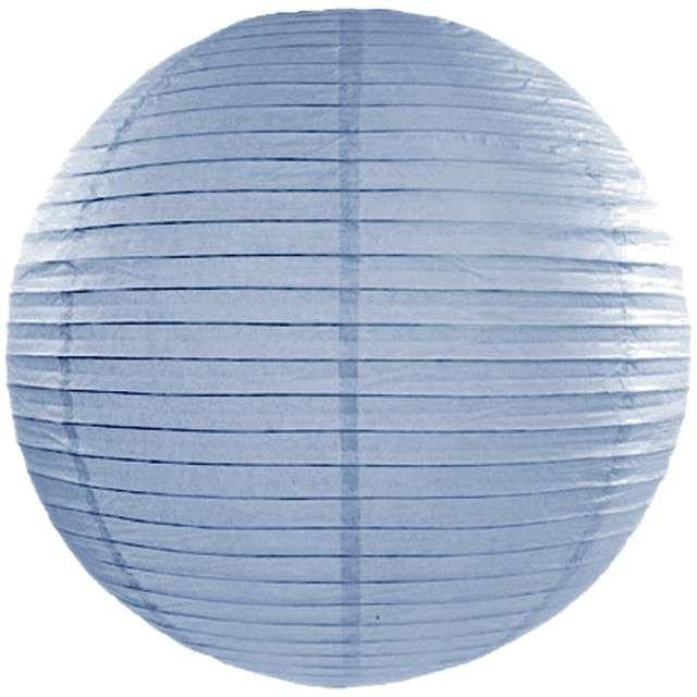 Lampion papierowy, niebieski mglisty, 65 cm
