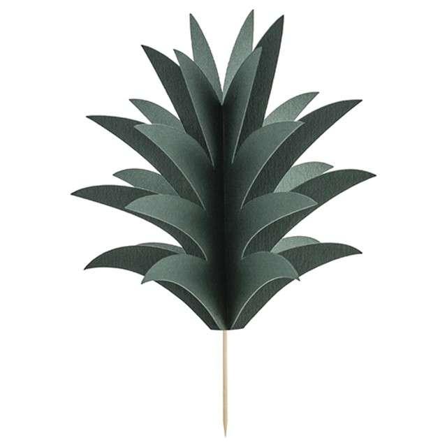 """Szpilki drewniane """"Aloha - Ananasy"""", PartyDeco, 16,5cm, 6 szt"""