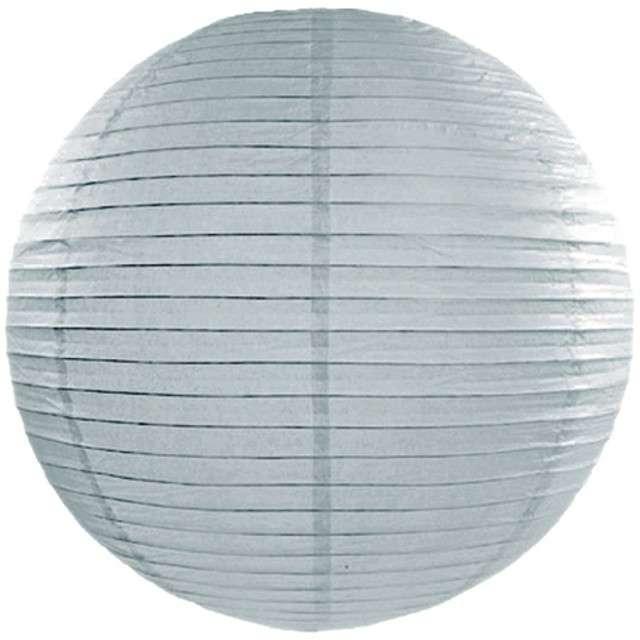Lampion papierowy, szary zimny, 45 cm