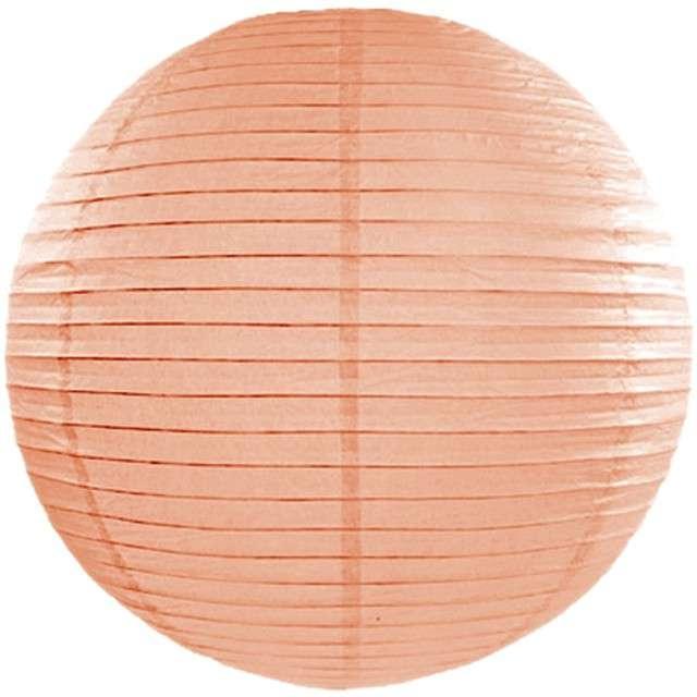 Lampion papierowy, brzoskwiniowy jasny, 45 cm