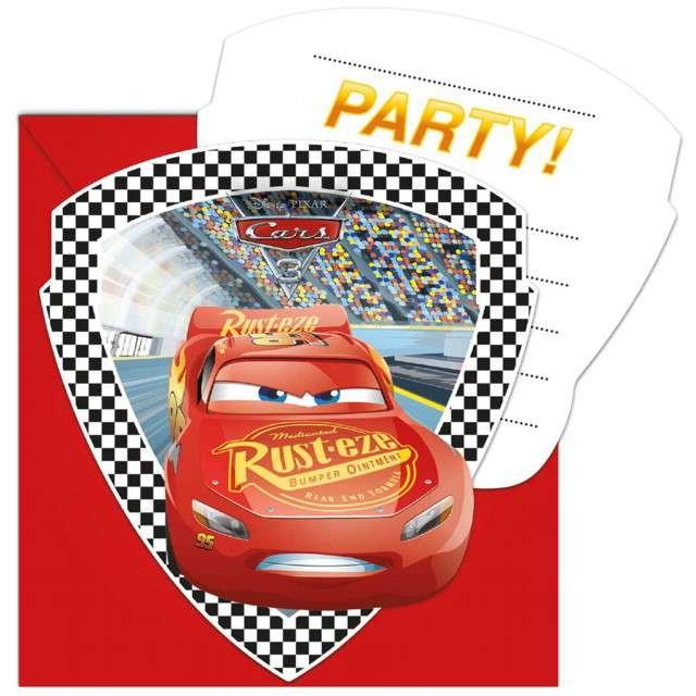 """Zaproszenia urodzinowe """"Cars 3"""", PROCOS, 6 szt"""