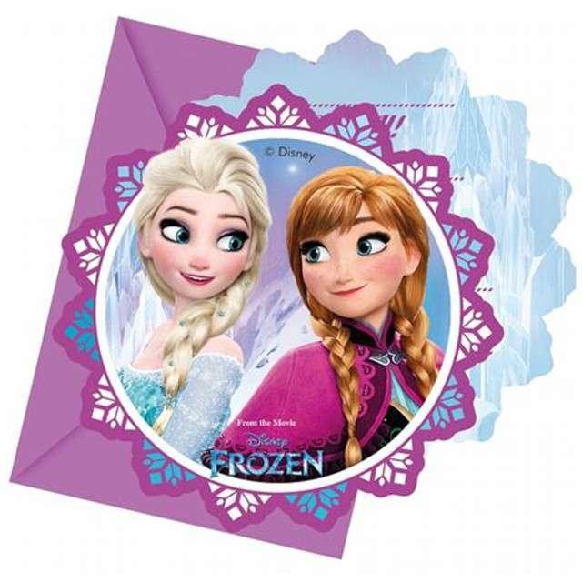 """Zaproszenia urodzinowe """"Frozen Northern Lights - Kraina Lodu"""", PROCOS, 6 szt"""