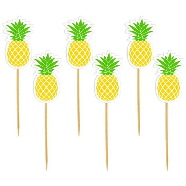 """Szpilki drewniane """"Ananas"""", 6 szt"""