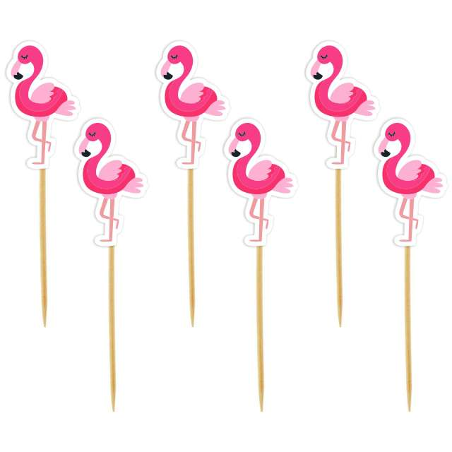 "Szpilki drewniane ""Flamingi"", 6 szt"