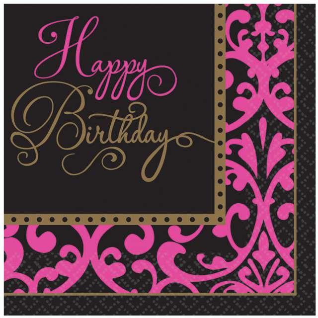 "Serwetki ""Happy Birthday Fabulous"", AMSCAN, 33 cm, 36 szt"