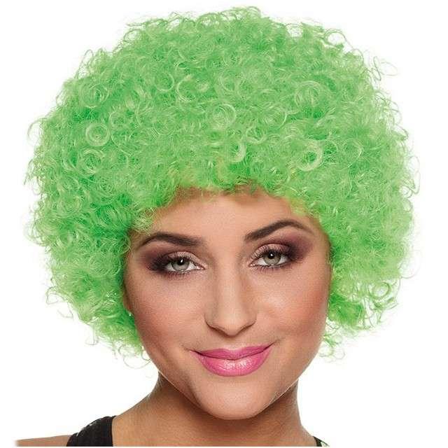"""Peruka party """"Afro """", zielona, BOLAND"""