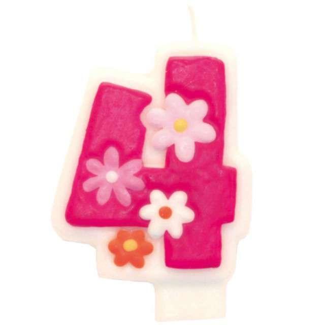 """Świeczka na tort """"Pink daisy 4"""", AMSCAN"""