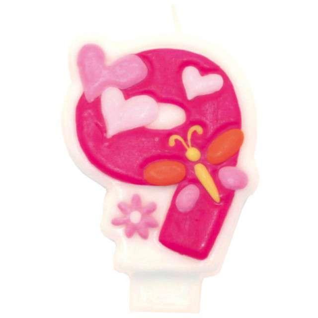 """Świeczka na tort """"Pink daisy 9"""", AMSCAN"""