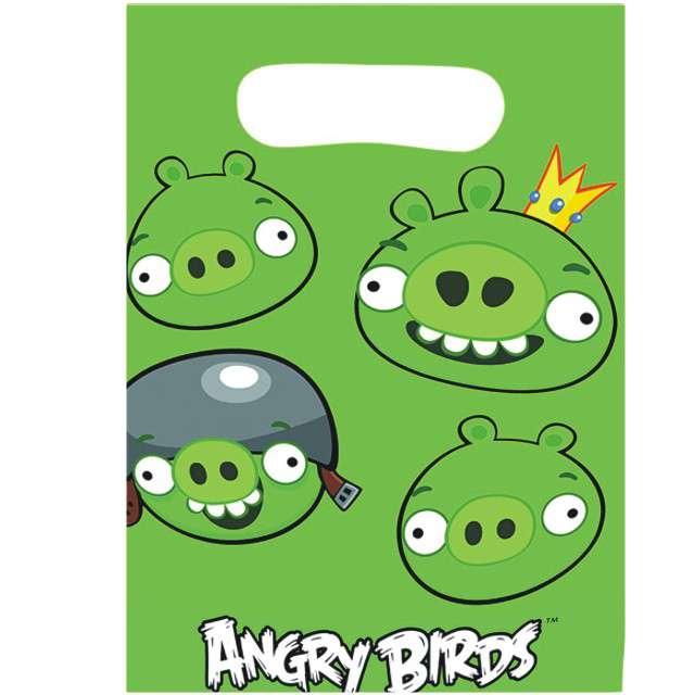"Torebki foliowe ""Angry Birds"", AMSCAN, 6 szt"