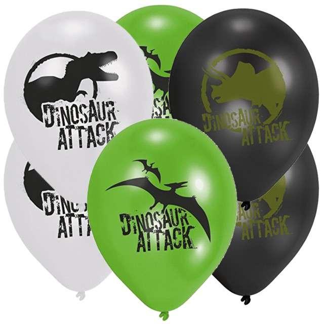 """Balony """"Dinozaury"""", mix, AMSCAN, 9"""", 6 szt"""