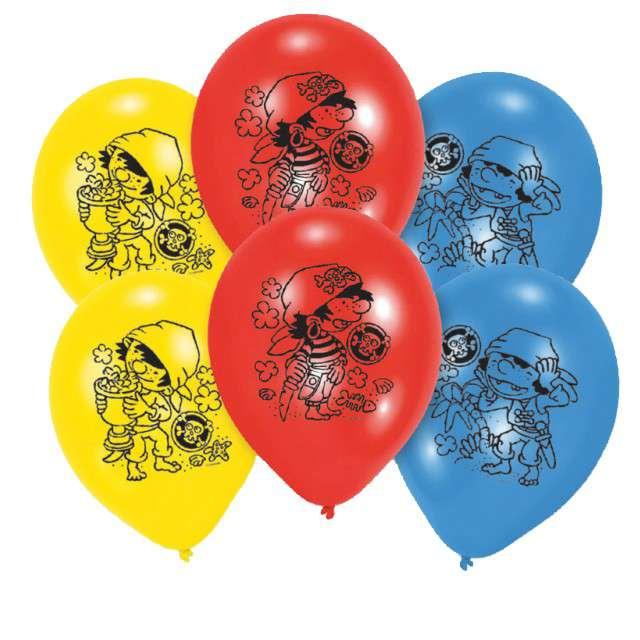 "Balony ""Piraci"", mix, AMSCAN, 9"", 6 szt"