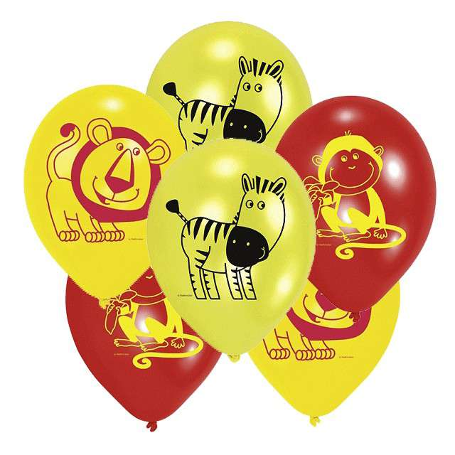 "Balony ""Safari"", mix, AMSCAN, 9"", 6 szt"