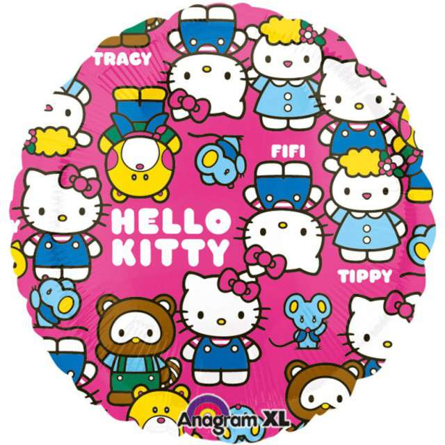 "Balon foliowy ""Hello Kitty"", AMSCAN, 17"" RND"