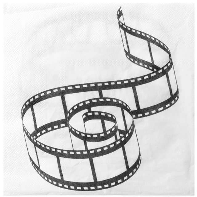 "Serwetki ""Hollywood"", SANTEX, białe, 33 cm, 20 szt"