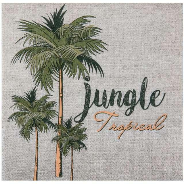 """Serwetki """"Tropical Jungle"""", SANTEX, białe, 33 cm, 20 szt"""
