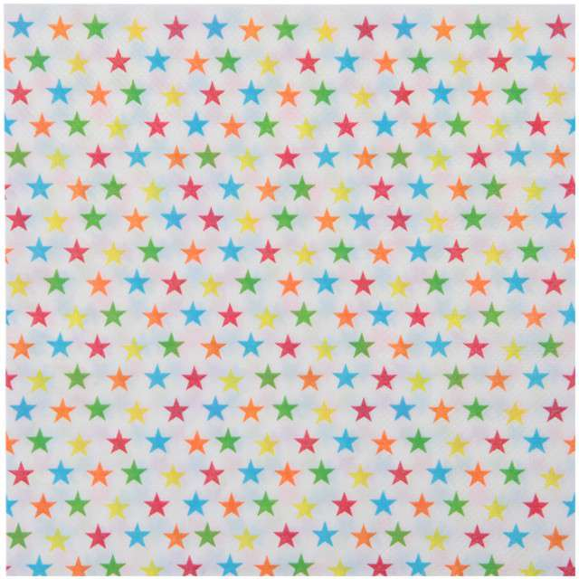 """Serwetki """"Cyrkowe Gwiazdki"""", SANTEX, białe, 33 cm, 20 szt"""