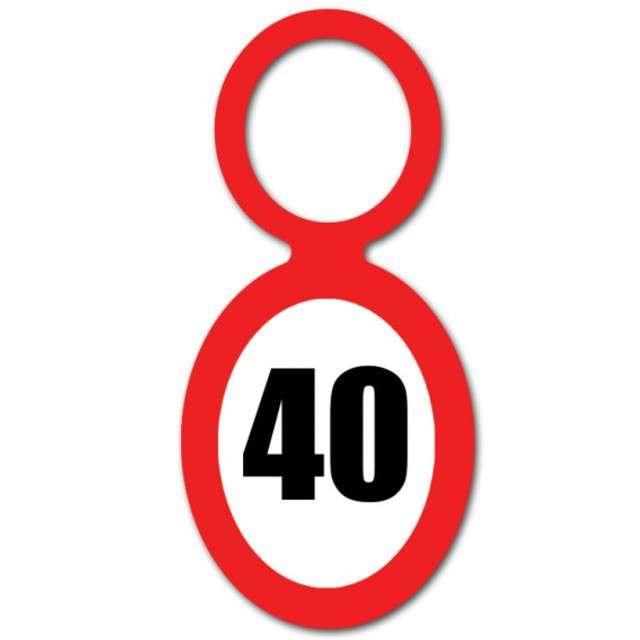 """Zawieszka na butelkę, """"40 Urodziny znak"""", 20 szt"""