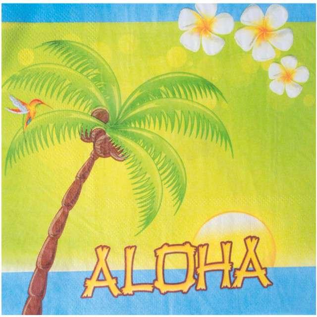 """Serwetki """"Hawajskie Party - ALOHA"""", FunnyFashion, 33 cm, 20 szt"""