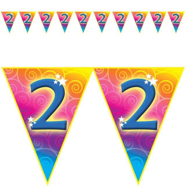 "Baner flagi ""Urodziny 2 Rainbow Swirl"", Funny Fashion, 5 m"