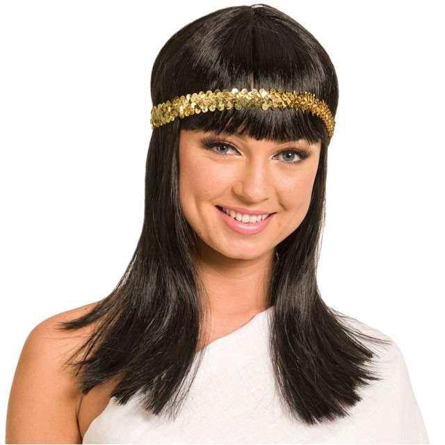 """Peruka party """"Kleopatra"""", FOLAT, czarna"""