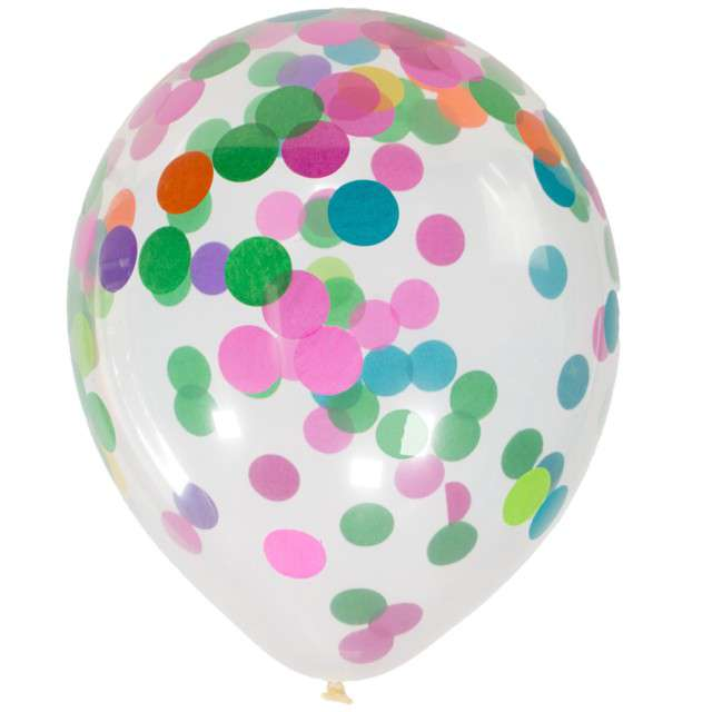 "Balony z konfetti ""Classic"", mix, FOLAT, 12"", 4 szt."