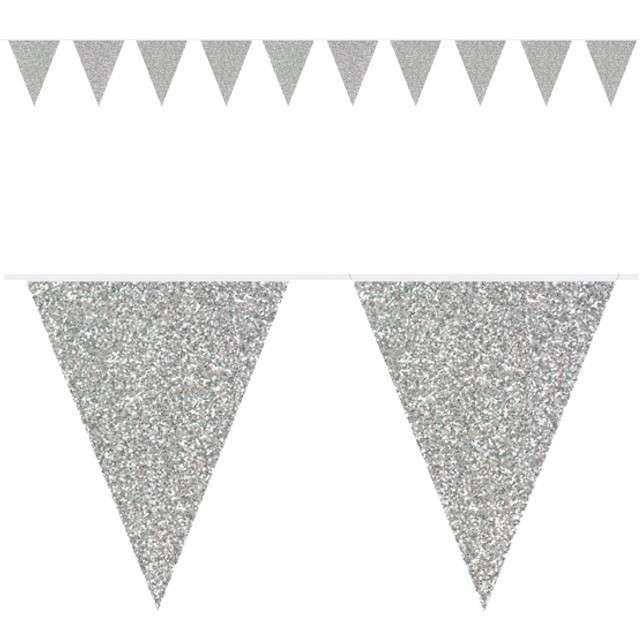 """Baner flagi """"Classic"""", srebrny brokatowy, FOLAT, 600 cm"""
