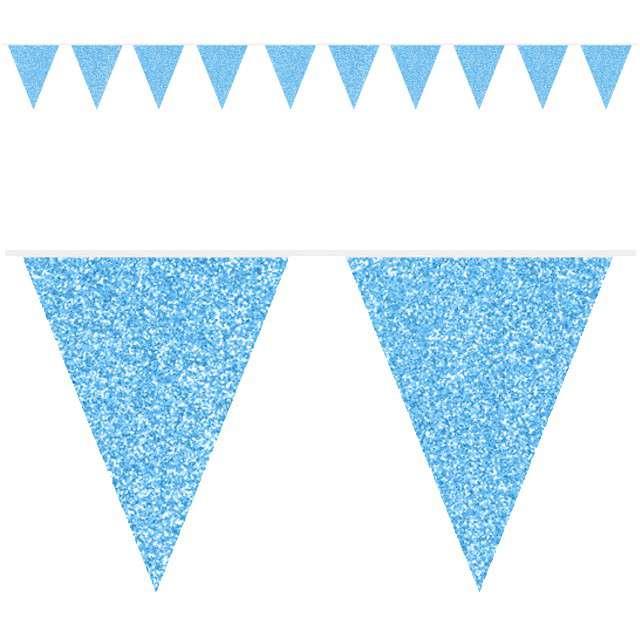 "Baner flagi ""Classic"", niebieski brokatowy, FOLAT, 600 cm"