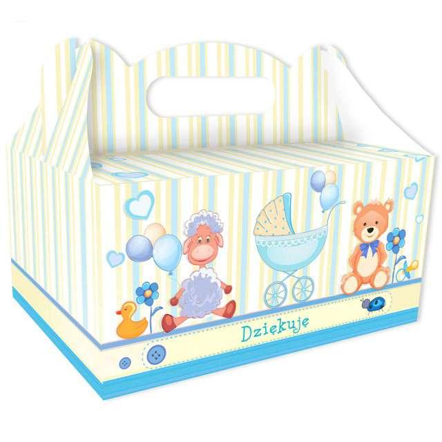 """Pudełko na ciasto """"Podziękowanie"""", błękitne, 6 szt"""