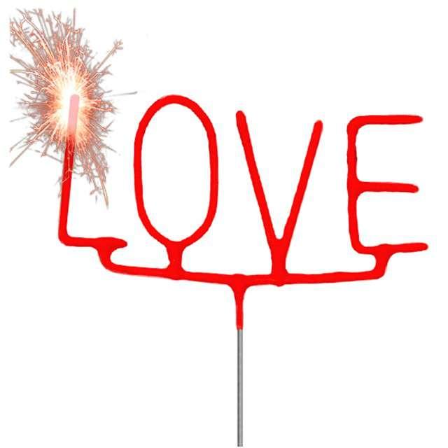 """Zimne ognie """"Love"""", czerwony, FOLAT, 16 cm"""