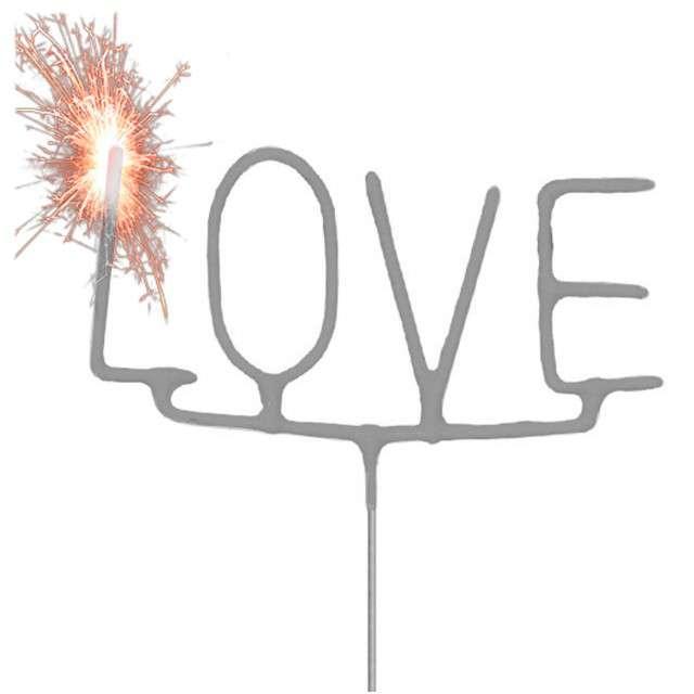 """Zimne ognie """"Love"""", srebrny, FOLAT, 16 cm"""