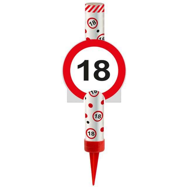 """Fontanna tortowa """"18 Urodziny - znak"""", FOLAT, 12 cm"""