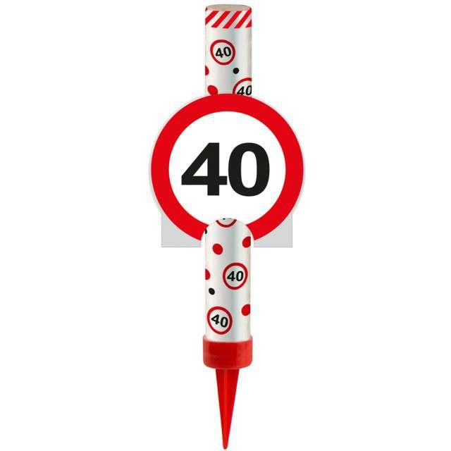 """Fontanna tortowa """"40 Urodziny - znak"""", FOLAT, 12 cm"""